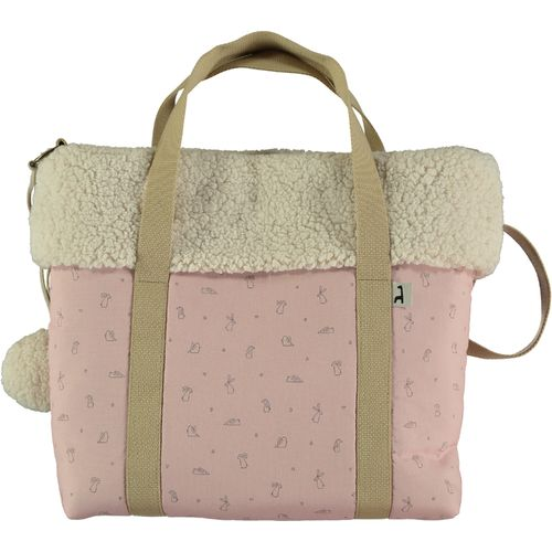 Bolso paseo impermeable Li and Ted rosa borrego