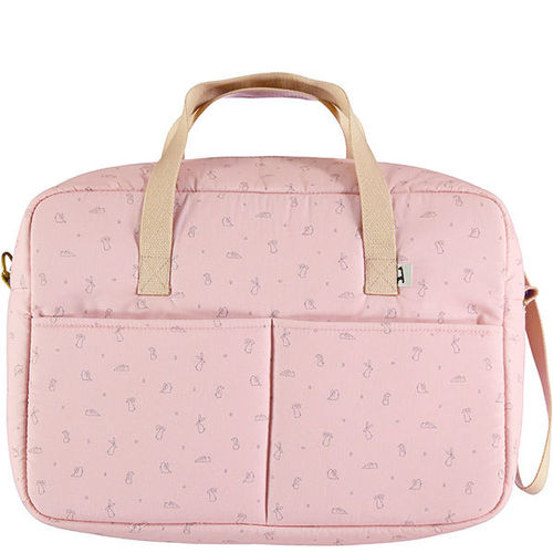 Bolsa canastilla impermeable Li and Ted rosa