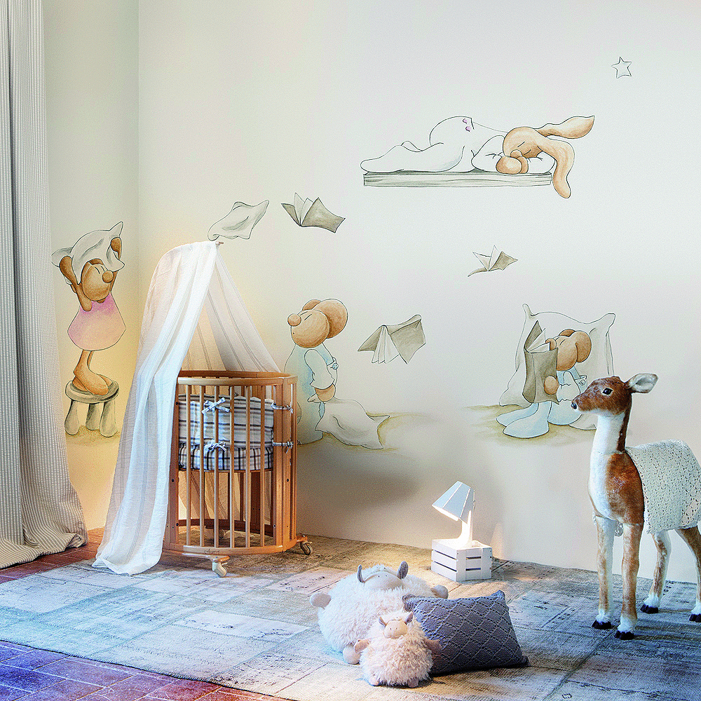 Murales papel pintado y siluetas de pilar burguet por for Como puedo decorar mi pieza