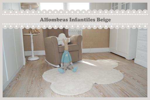 alfombras infantiles de color beige crema - enfants et maison