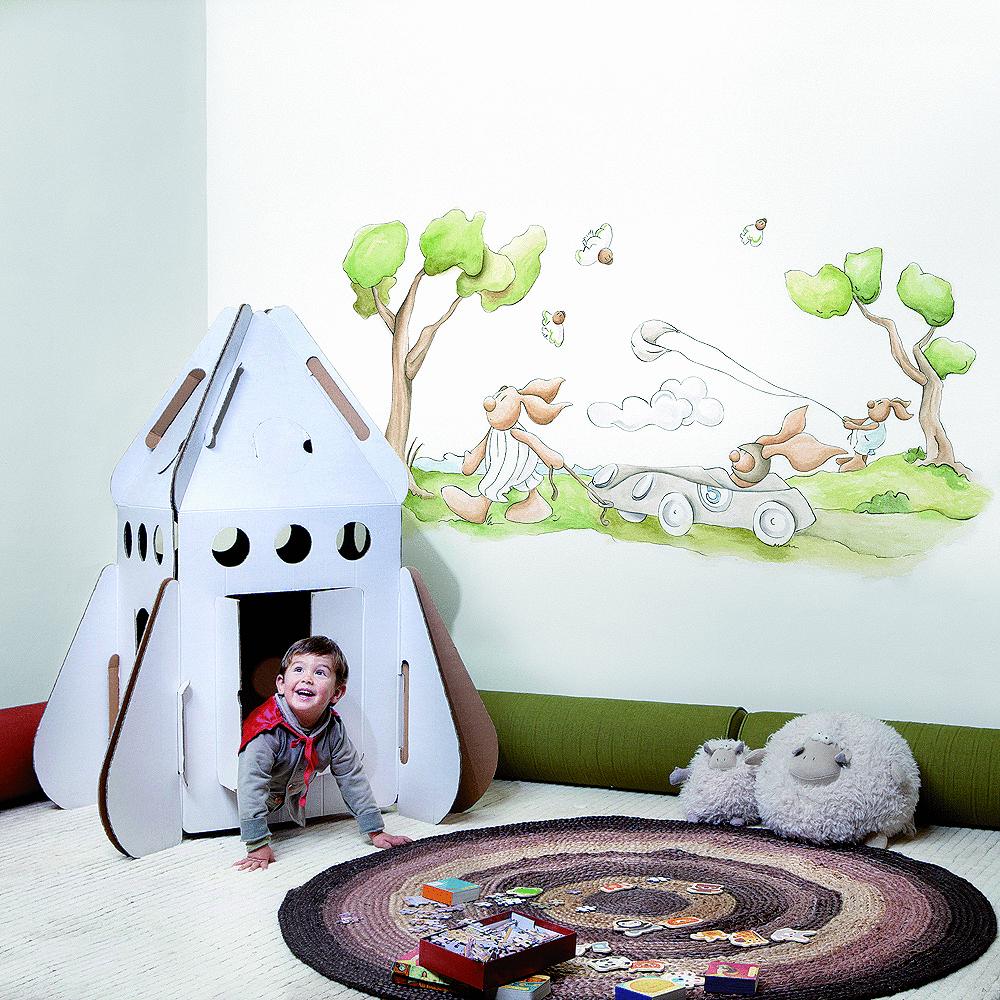 Murales papel pintado y siluetas de pilar burguet por - Papel para habitaciones infantiles ...