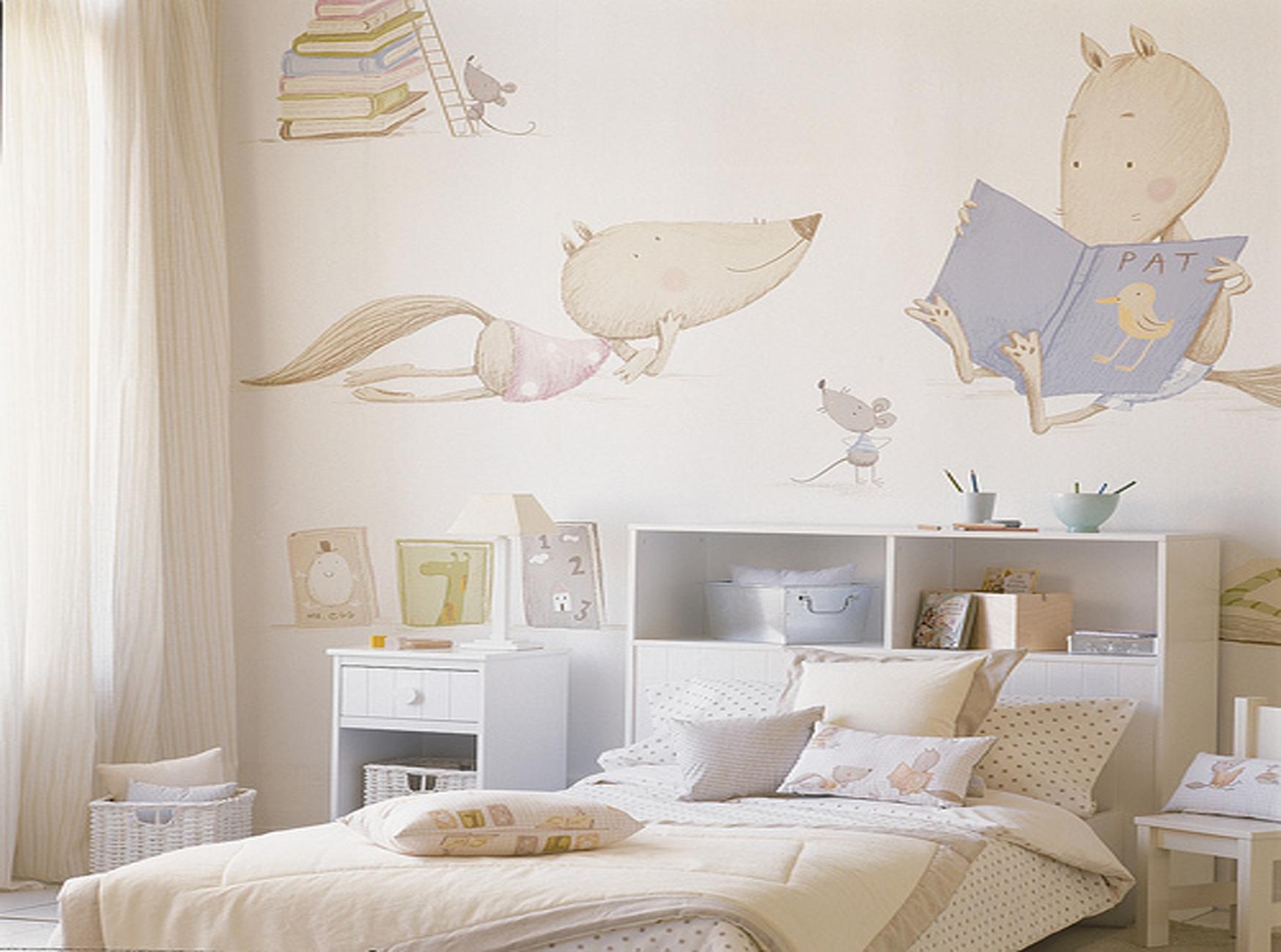 Murales infantiles enfants et maison - Papeles infantiles para paredes ...
